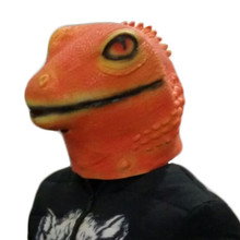 Hot Selling 3D Animal Mask Adult Size Rubber Costume latex lizard