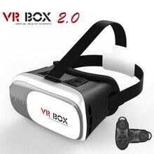 """CAJA 2.0 2 Gafas 3D Auriculares VR Google Cartón Cabeza montaje de Realidad Virtual de Vídeo Juegos para 3.5-6.0 """"Smartphone + Remote Control"""