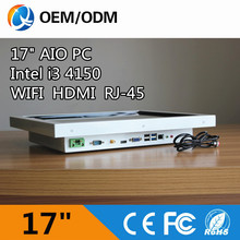 17″ all in one pc Resistive touch screen industrial computer Resolution 1280×1024 with Intel I3 4150 3.5GHz 2GB RAM 32G DDR3