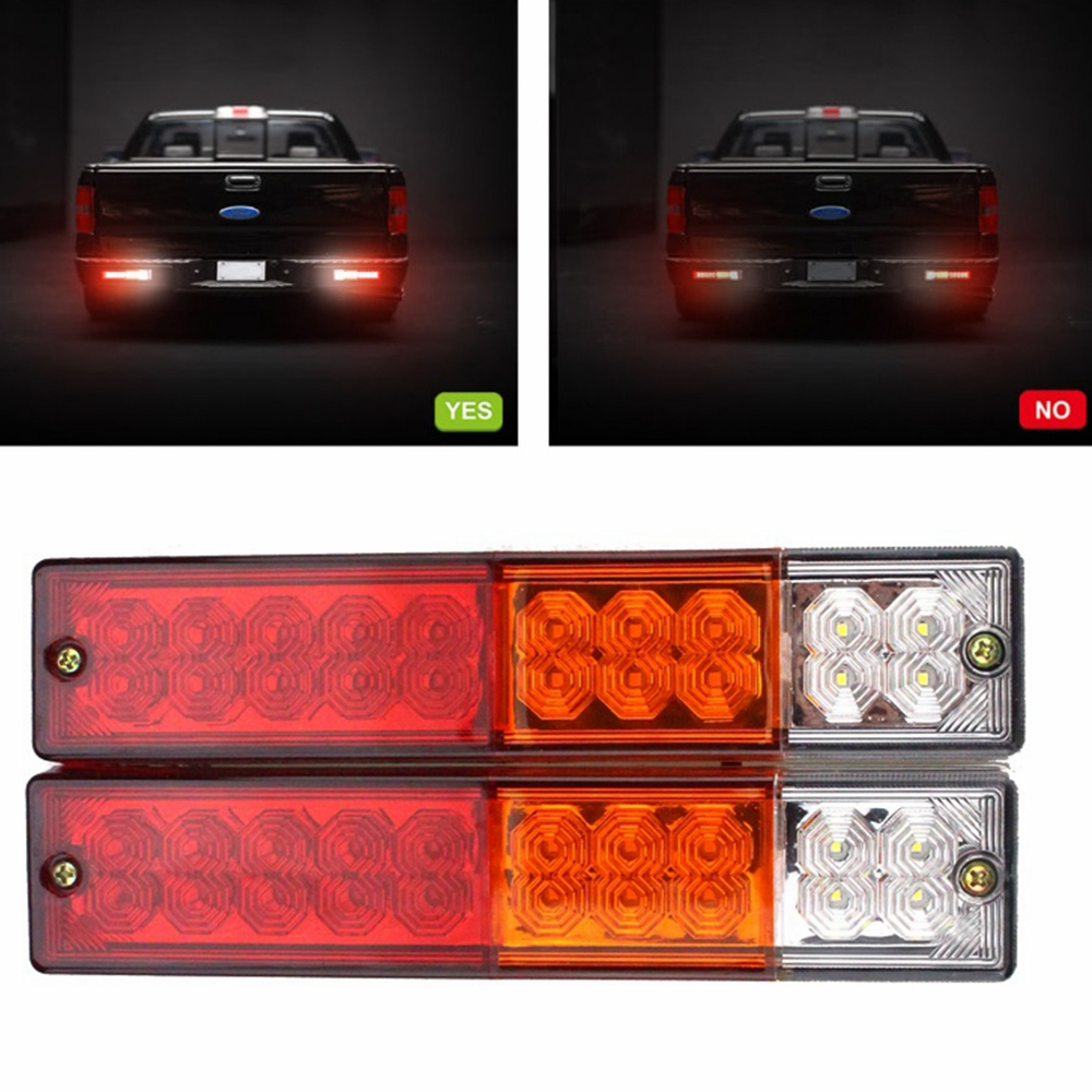 Led Verlichting Camper 12v Us 14 51 11 Off 2x 24v 12v Car Trailer Lights Led Stop Rear Tail Brake Reverse Lights Turn Indiactor Atv Truck Caravan Aanhanger Led Verlichting In