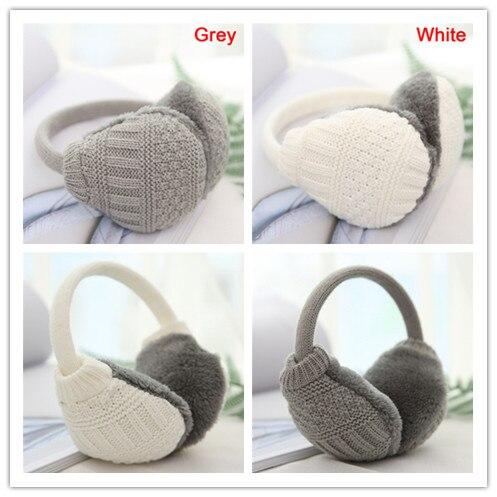 1PC Winter Warm Knitted Earmuffs Children Ear Muffs For Boy Earmuffs For Girls Baby Gift Ear Warmers 2 Colors