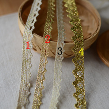 Lace Ribbon Golden Appliques Embroidery Sewing Accessories DIY Craft Trim YYN605