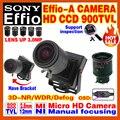 """2016 newstyle lente de foco manual de 2.8mm-12mm 1/3 """"sony ccd effio 4140 + 238 900tvl analógico osd mini câmera de cftv de segurança surveillanc"""