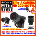 "2016NewStyle Manual Focusing 2.8mm-12mm Lens 1/3""Sony CCD Effio 4140+238 900TVL Analog Security Surveillanc Osd Mini Cctv Camera"