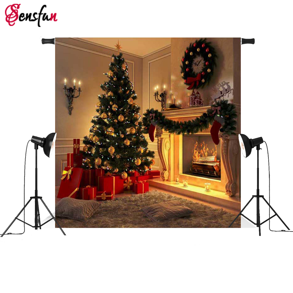Christmas Backgrounds For Computer.Us 5 52 21 Off Christmas Backgrounds For Photography Light Candles Photo Studio Computer Digital Children Backdrop Christmas Tree Photocall In