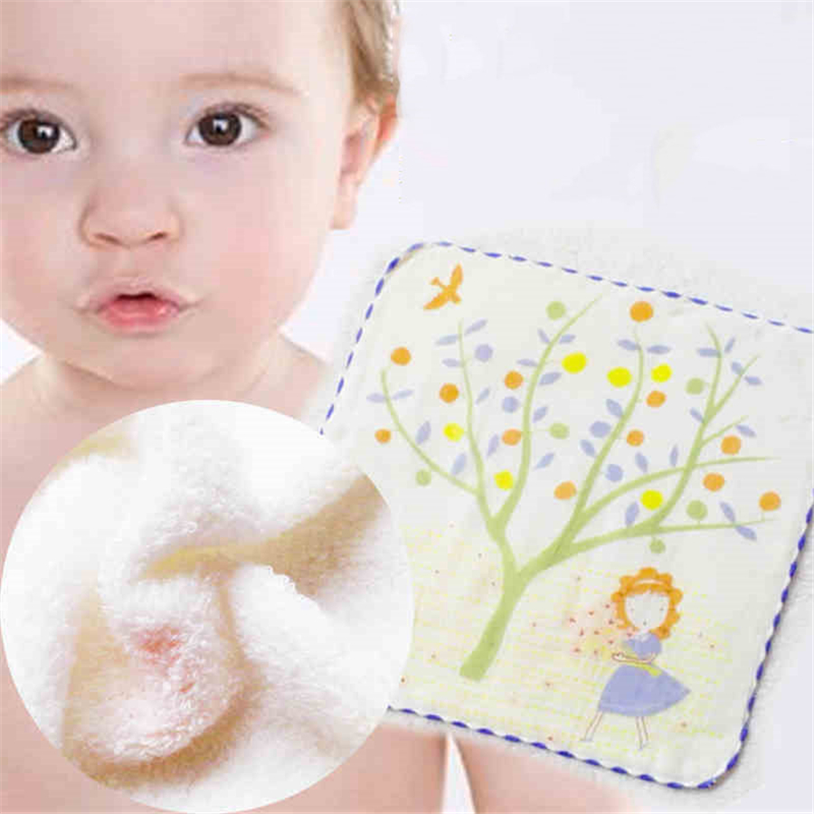 Soft Baby Bath Towel Cotton Newborn Gauze Handkerchief High Quality 1 Pcs Cute Textile Baby Feeding Towel Saliva Infant 90A0155