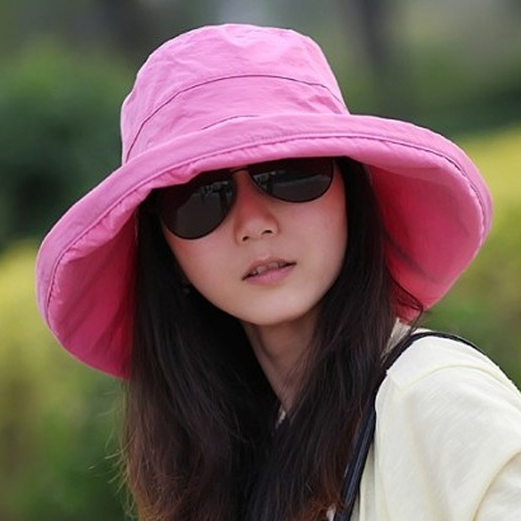 2018 Korean Spring Summer Solid Color cotton pork pie hat women s bucket  hats causal fashion sun hats Free shipping ca66a4f6a9f