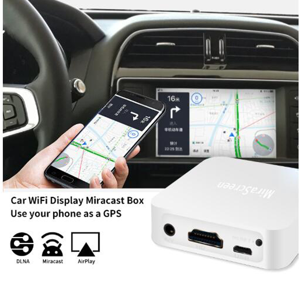 New MiraScreen X7 Wireless Link Box For IOS Android Phone Audio Video Miracast WIFI Display DLNA Receiver Mirroring HD AV To Car