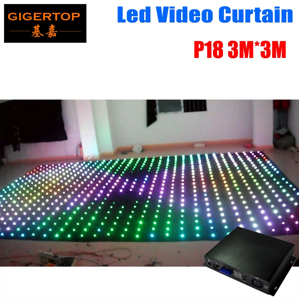 цена на P18 3M*3M Led Vision Curtain Tricolor RGB 3in1 Led Video Curtain 30 Kinds Patterns Play DJ Equipment Auto/Manual/DMX Control