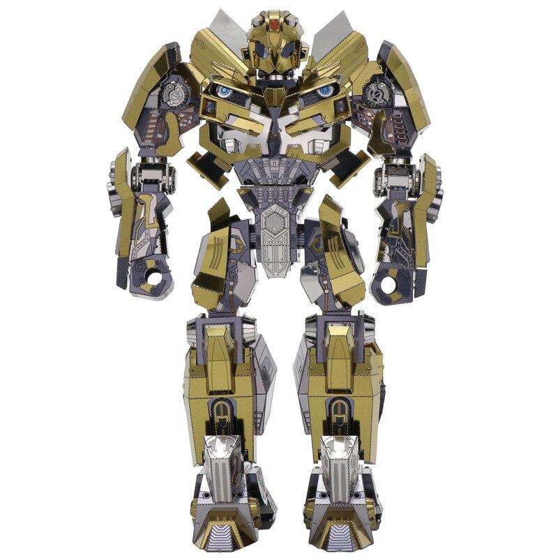 3D Transformation métal Puzzle bricolage Bumblebee modèle jouets Puzzle enfants jouets éducatifs à la main manuel cadeau jouets
