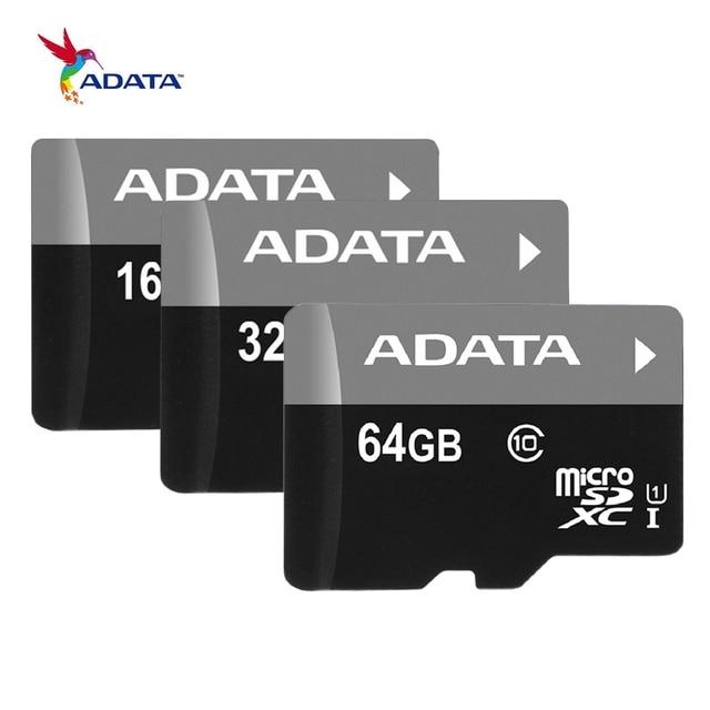 ADATA Memory Card 16G 32GB 64G C10 Micro SD Card TF Trans Flash Card SDHC SDXC UHS-I Class10 MicroSD Class4 4GB 8GB Mikro Card