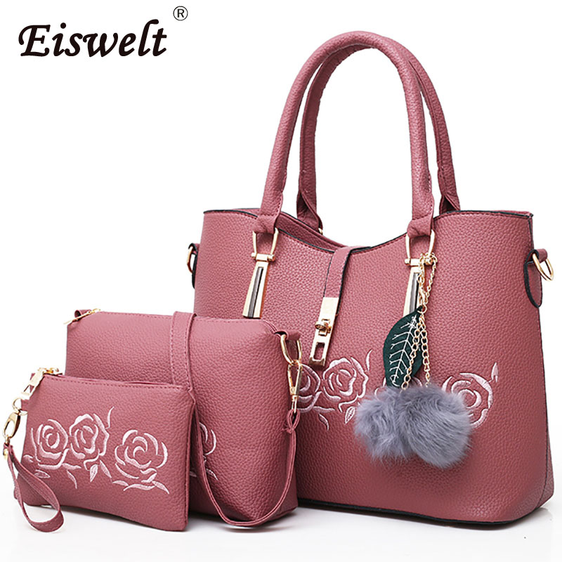 Dropshipping 3pcs Leather Bags Handbags Women Famous Shoulder Bag Female Casual Tote Women Messenger Bag Set Bolsas Feminina mtenle leather bags handbags women s famous brands bolsa feminina big casual women bag female tote shoulder bag ladies large fi
