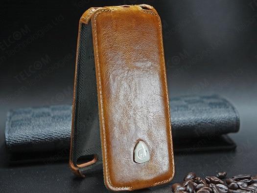 Funda para iPhone SE 5S 5 Funda de cuero genuino de lujo vintage con - Accesorios y repuestos para celulares - foto 4