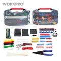 WORKPRO 582 шт. Набор инструментов для электрика, сетевые наборы инструментов, волоконно-оптические инструменты набор инструментов для дома