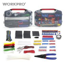 WORKPRO 582PC  Electrician Network Tool Kits Electrical Repair Set Crimp Terminals Wire Connectors Heat Shrink Tube