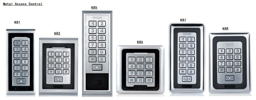 Waterproof RFID Access Control Keypad Metal Access Controller 125KHz Reader for Smart Door Lock