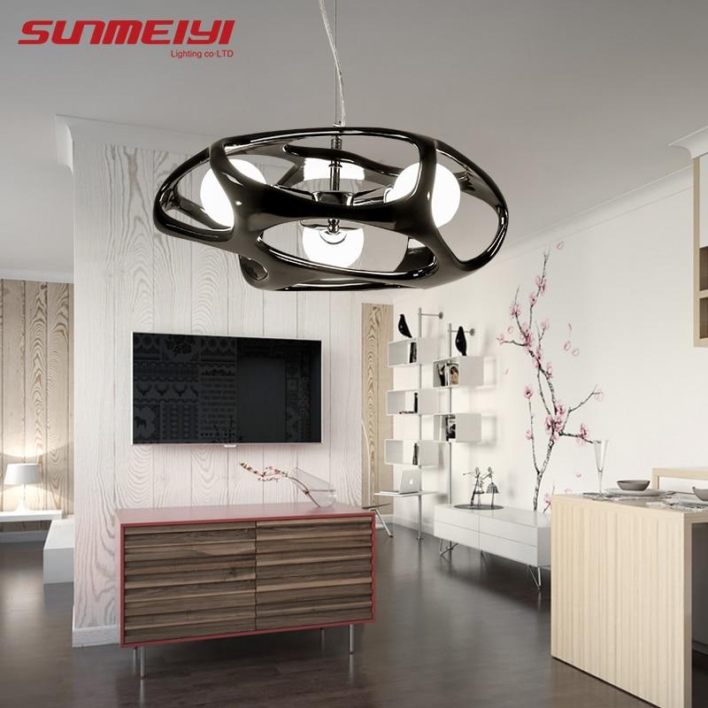 Modern LED Pendant Lights New lustre pendente For Living room Kitchen Glass Ball Pendant Light Dining
