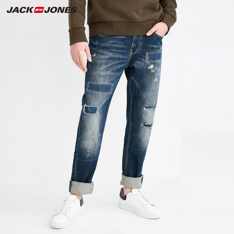 JackJones men's Autumn Slim Racer Biker   Jeans   Fashion Hiphop Skinny   Jeans   For MenJ 218132565