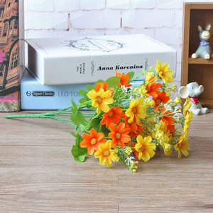 Image 5 - 1 ช่อดอกไม้ 28 หัวCinerariaประดิษฐ์ดอกไม้ตกแต่งบ้านสำนักงานSilk Daisyประดิษฐ์ตกแต่งในร่มกลางแจ้งA12150