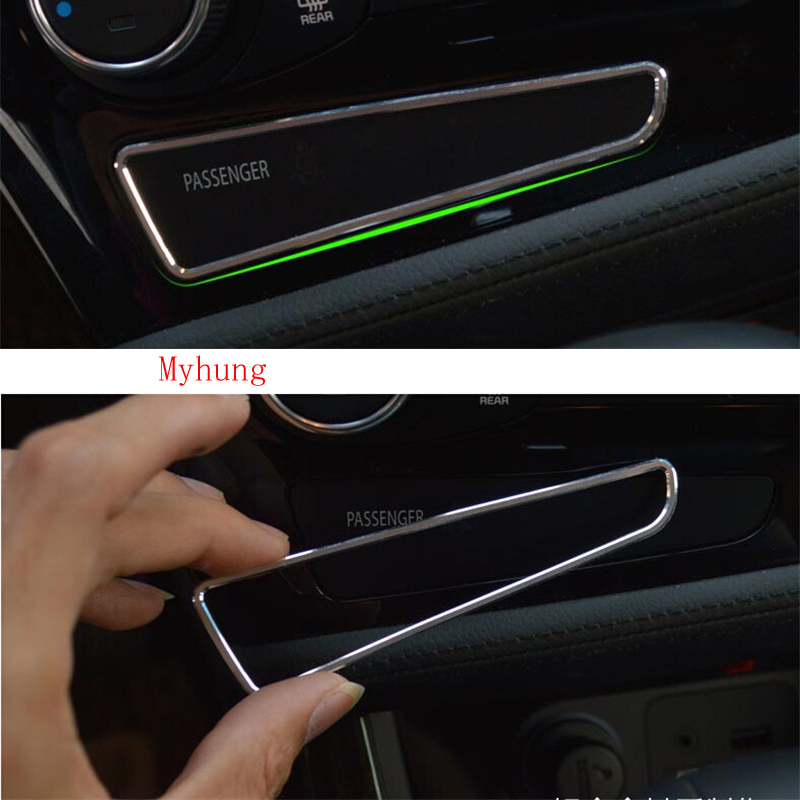 Car Interior Mouldings Accessories For Kia K5 Optima 2011 2015 Car Dashboard Passenger Switch Sticker Car Auto Part 1Pc in Interior Mouldings from Automobiles Motorcycles