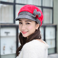 Newest Hot Sale Elegant Women Knitted Hats Rabbit Fur Cap Autumn Winter Ladies Female Fashion Skullies Warm Hat Wholesale Visors