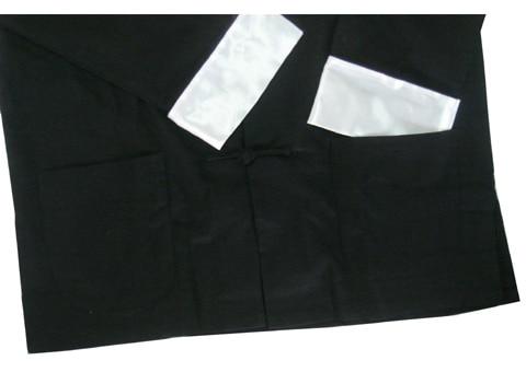 Лидер продаж Черный традиционный китайский Для мужчин белье куртка пальто с длинным рукавом Тан костюм с карманом Размеры размеры S M L XL XXL, ...