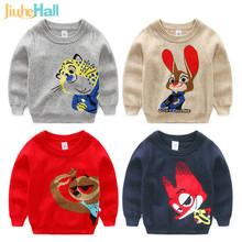 2016 Hot & New 4 Types Spring Autumn Boys Sweater Cartoon Animal Pattern Thicken Boys Pullovers O-Neck Kids Knitwear CMB384