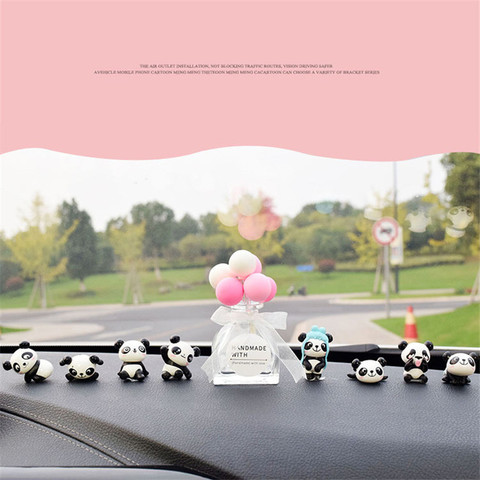 8PC Personality Panda Car Jewelry Ornaments Cute Car Decoration High-end Car Central Control Interior Auto Products Accessories Islamabad