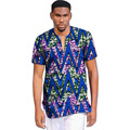 Brightly print dashiki tops short sleeve men african clothes fashion v-neck african shirt man africa clothing customized