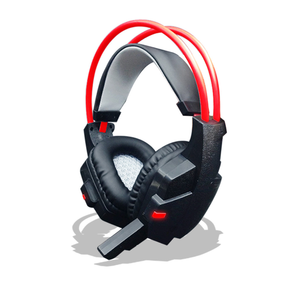 2017 New And High Quality Fashion Surround Stereo Gaming Headset Headband Headphone USB 3.5mm LED with Microphone for PC