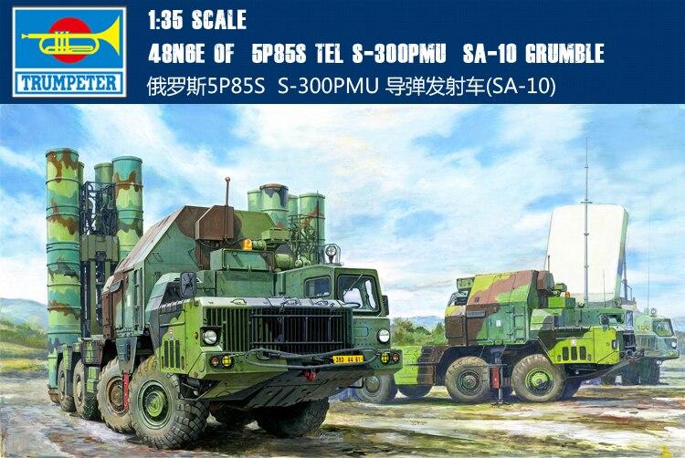 Trompette 01038 1:35 russe 5P85S S300PMU/SA-10 ensemble de missiles antiaériens modèle Kits de construction jouet