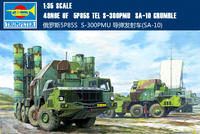 Trumpet 01038 1:35 Russian 5P85S S300PMU/SA 10 Antiaircraft Missile Assembly Model Building Kits Toy