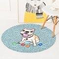 Французский бульдог коврики для собак Детские ползающие Нескользящие круглые коврики для гостиной коврик для ванной Созвездие серии 60-150 с...