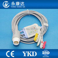 For M2425A, M2475B One Piece patient monitor 3leads ECG cable,