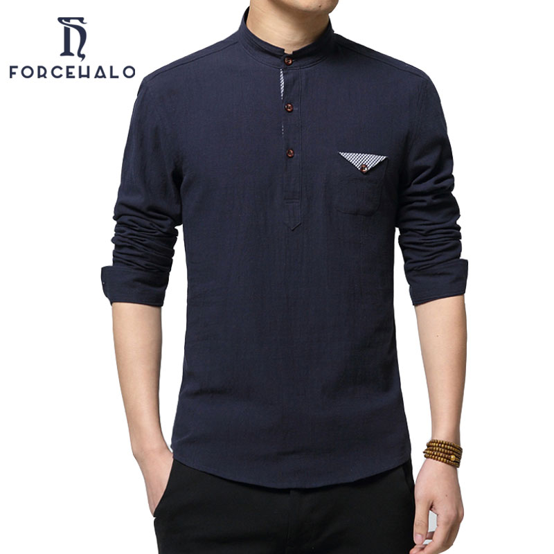 2017 new fashion men linen shirt long sleeve casual for Latest shirts for mens 2017