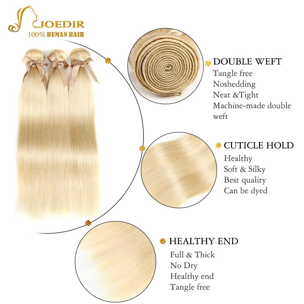 Joedir Hair 613 bundles with closure Brazilian Straight Hair Bundles With Closure Human Hair Weave 3 Joedir Hair 613 bundles with closure Brazilian Straight Hair Bundles With Closure Human Hair Weave 3 4 Bundles With Closure