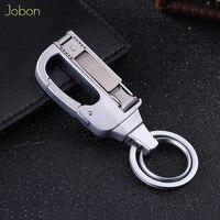 Jobon Мужская цепочка для ключей нож многофункциональный складной клипер автомобильный брелок для ключей с инструментом металлический держа...