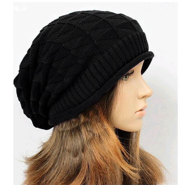ad4762b465f Men Women Autumn Winter Hat Knitted Wool Blend Beanie Female Casual Mask  Ski Caps Outdoor Thick