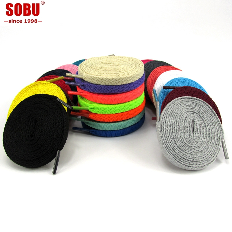 8mm Classic Flat Double Hollow Woven Shoelaces High Quality Polyester Shoelaces Fashion Sports Casual Shoe Lace T122