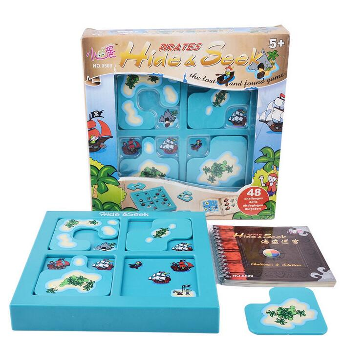 Candice guo plastic toy birthday christmas gift prenset hide seek pirates intellect funny puzzle play lost and found game set funny fishing game family child interactive fun desktop toy
