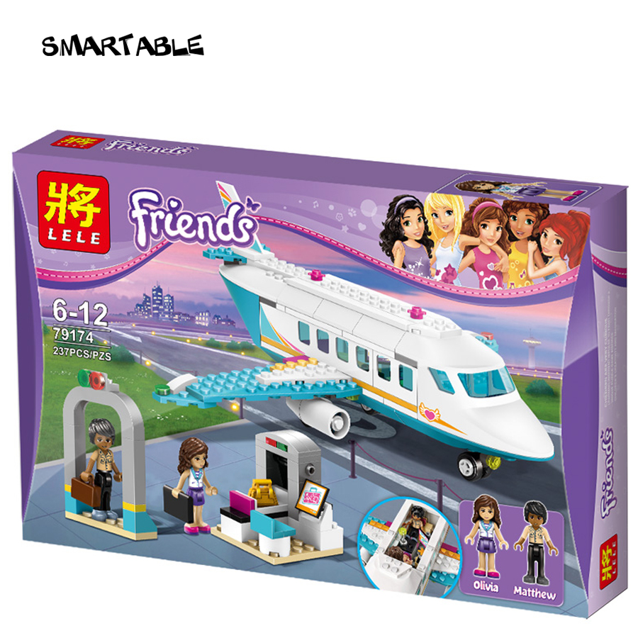 Bloque de Construcción Heartlake Smartable Girl Friend Jet plane 79174 Figura ju