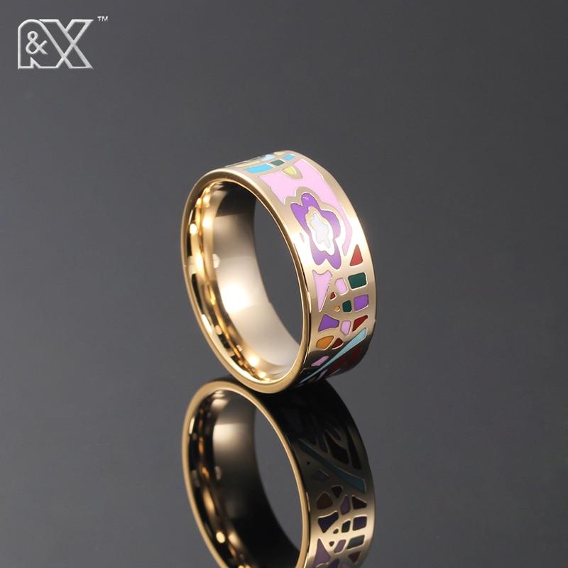R&X Hot Sale Enamel Ring Women/men Jewelry Vintage Style ...