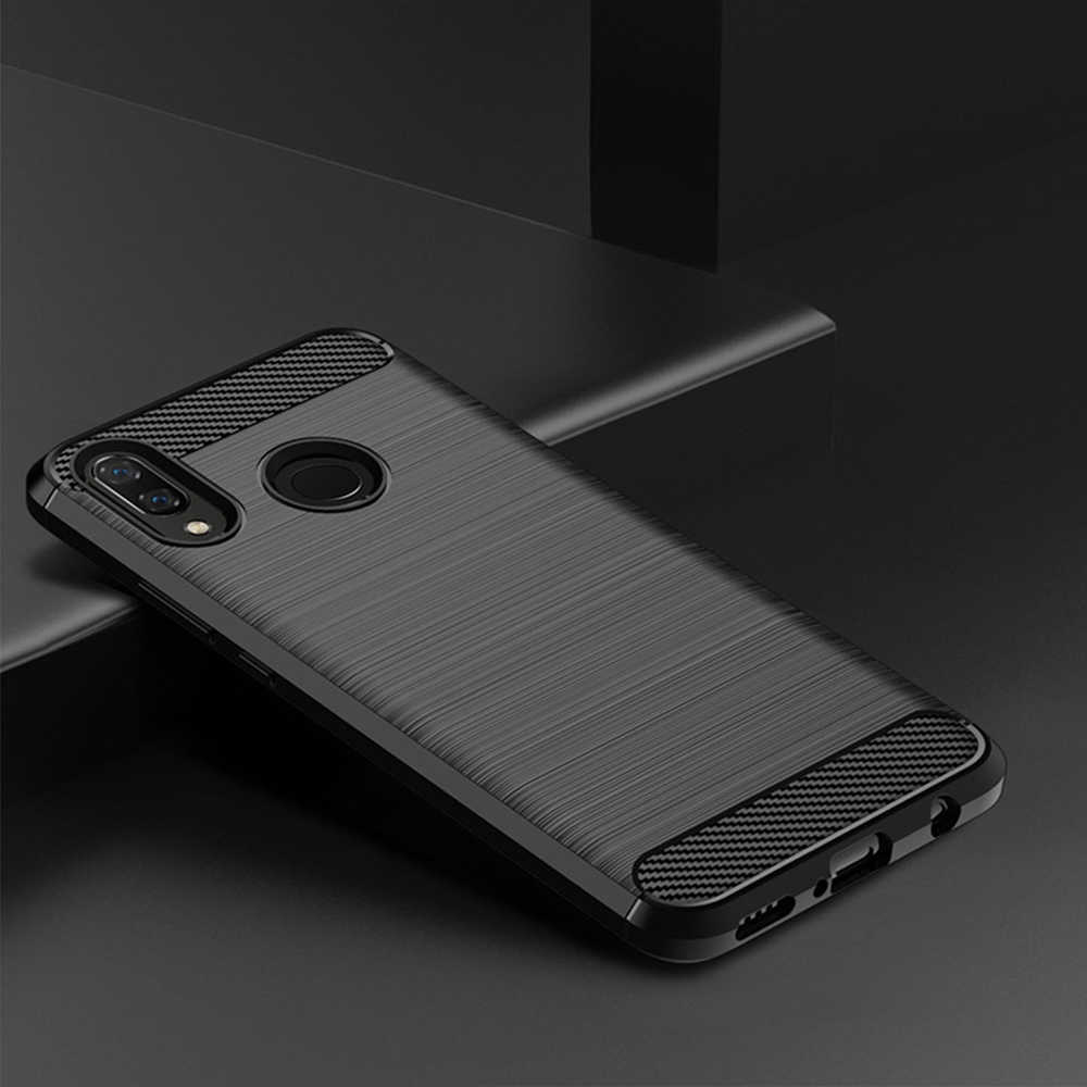 Silicona esmerilada aplicable para Huawei Nova3i funda protectora bolsa suave para teléfono móvil a funda de teléfono móvil con espejo Blu-ray