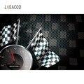 Фотофон Laeacco для фотостудии  спортивная гоночная доска с флагом Ferraris