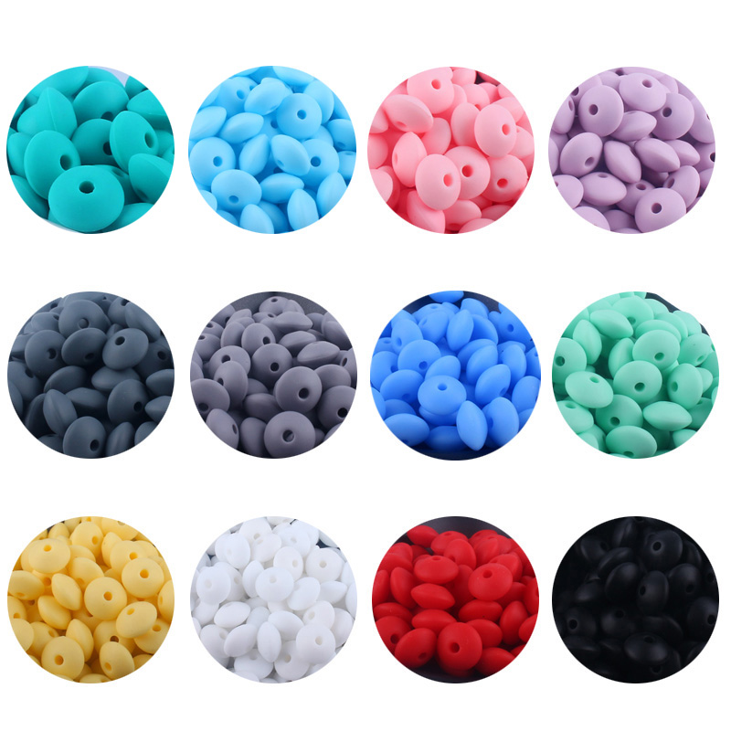 XCQGH 30PCS Silicone Beads Baby Bite Gel Silicone Loose Beads DIY Necklace Bracelet Pacifier Chain Beaded