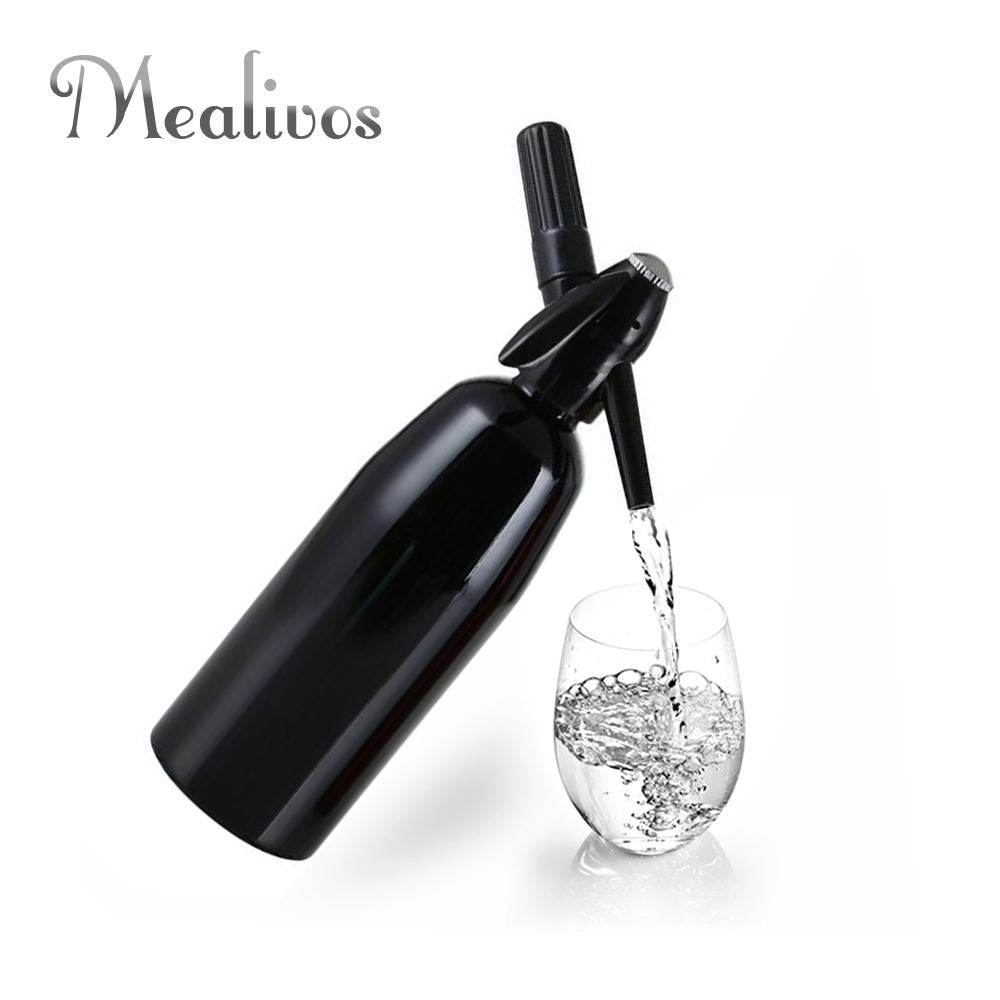 Mealivos Soda Siphon 1ltr - Make Sparkling Water for Mojitos, Gin Fizz Cocktails and Wine Spritzers Free Shipping image