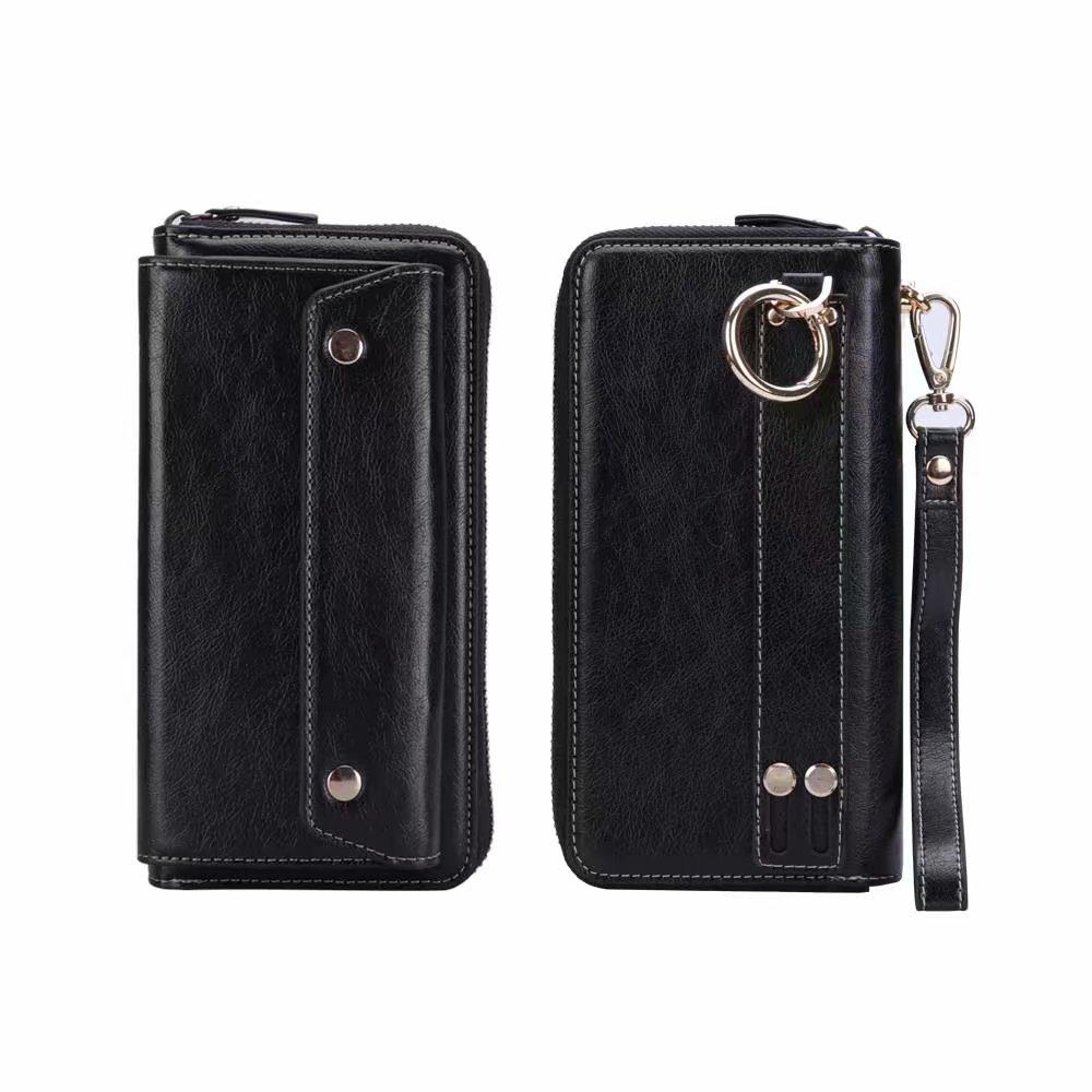 Universal Man PU Leather Wallet Phone Bag For iPhoneX 8 7 6 6s Plus 5s Samsung Galaxy S9 S8 S7 edge Xiaomi Mi6 Redmi Note8 5 4 3 iphone xs 財布