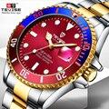Мужские механические часы Tevise  водонепроницаемые автоматические часы знаменитого дизайна  модные роскошные золотые часы  2019