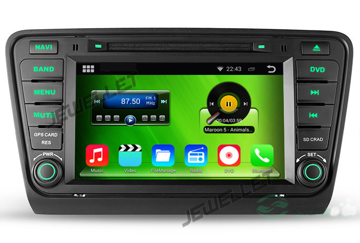 Octa core IPS screen Android 8.0 Car DVD GPS radio Navigation for Skoda Octavia Laura 2013 2016 with 4G/Wifi DVR OBD 1080P