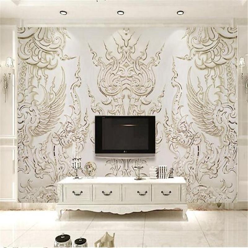 Modern 3d Effect Custom Photo Wallpaper Large Luxury Hotel Hall Tv